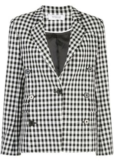 Derek Lam Double-Breasted Gingham Blazer