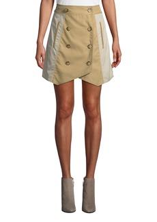 Derek Lam Double-Breasted Trench Short Skirt