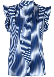 Derek Lam draped detail striped shirt