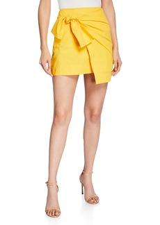 Derek Lam Draped Faux-Wrap Mini Skirt