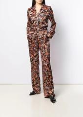 Derek Lam Drawstring Waist Paisley Print Pajama Pant