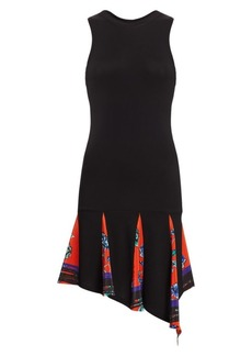 Derek Lam Dropped-Waist Pleated Floral Tank Dress