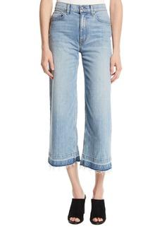 Derek Lam Dylan Wide-Leg Raw Culotte Jeans