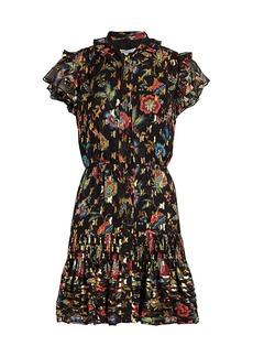 Derek Lam Edith Ruffled Floral Mini Dress