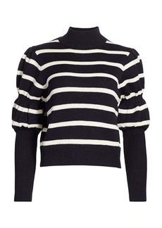Derek Lam Elani Puff-Sleeve Sweater