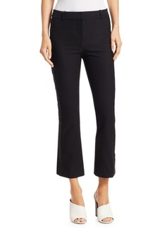 Derek Lam Eyelet Embroidered Cropped Flare Trousers