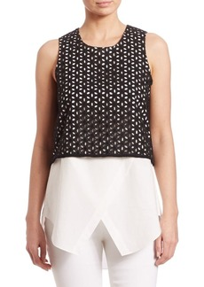 Derek Lam Embroidered Two-in-One Tank Top
