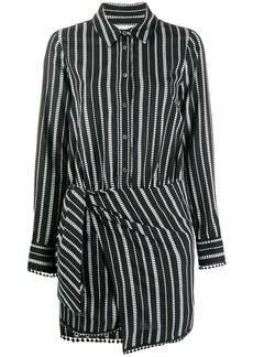 Derek Lam Eunice Diamond Striped Shirt Dress