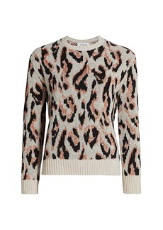 Derek Lam Evan Textured Leopard Sweater