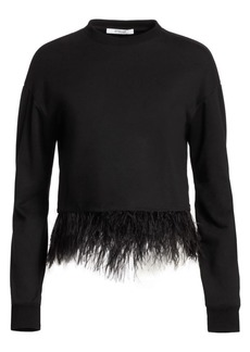 Derek Lam Feather-Hem Sweatshirt