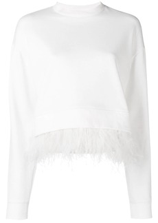 Derek Lam feather trim sweatshirt