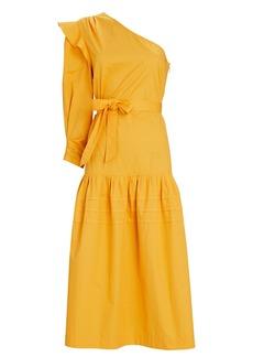 Derek Lam Finley One-Shoulder Midi Dress
