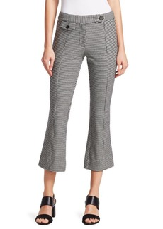 Derek Lam Flannel Plaid Crop Flare Trousers