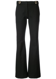 Derek Lam Flare Trouser With Grommet Detail