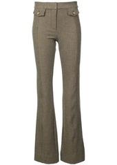 Derek Lam Flare Trouser with Tab Details