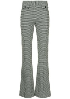 Derek Lam flared houndstooth trousers