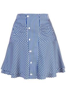 Derek Lam ruched striped skirt