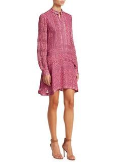 Derek Lam Floral Embroidered Peasant Dress