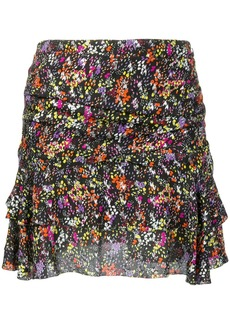Derek Lam floral flounce mini skirt