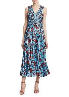 Derek Lam Floral Pleated Maxi Dress