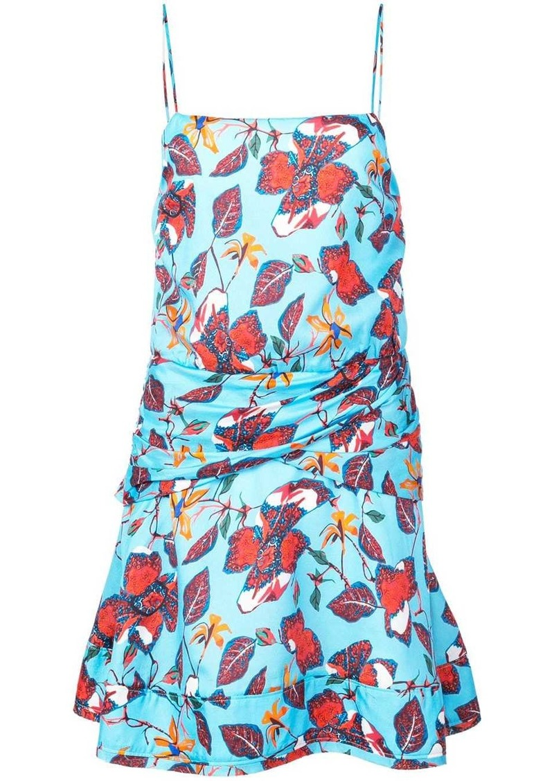 Derek Lam floral print flounce mini dress