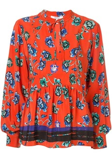 Derek Lam floral print pleated blouse
