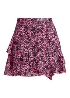 Derek Lam Floral Ruffle Mini Skirt