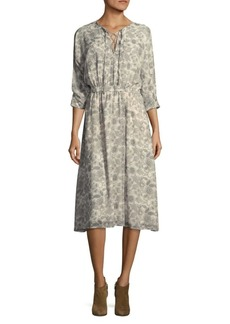 Derek Lam Floral Silk Midi Dress