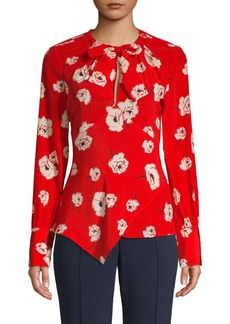 Derek Lam Floral Silk Top