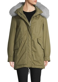 Derek Lam Fox Fur-Trim Parka