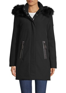 Derek Lam Fox Fur-Trim Down Parka Coat