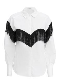 Derek Lam Fringe Button Down Shirt