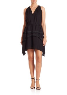 Derek Lam Fringe-Detail V-Neck Silk Dress