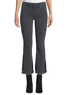 Derek Lam Gia Mid-Rise Cropped Flare-Leg Jeans
