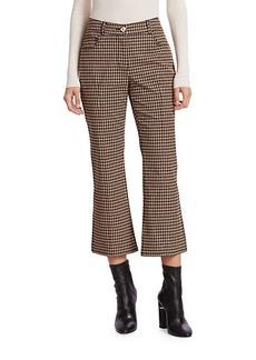 Derek Lam Gingham Crop Flare Pants