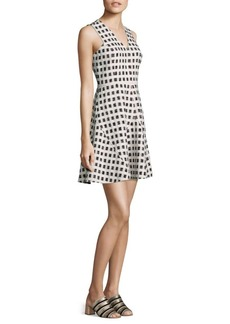 Derek Lam Gingham Fit-&-Flare Dress