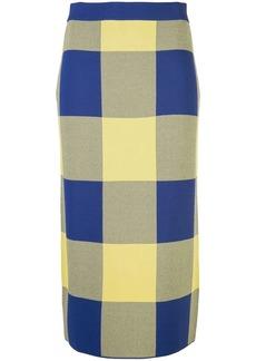 Derek Lam Gingham Jacquard Knit Pencil Skirt