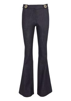 Derek Lam Grommet Detail Denim Flare Trousers