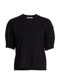 Derek Lam Harvey Mixed-Media T-Shirt