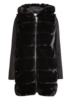 Derek Lam Hooded Faux Fur Parka