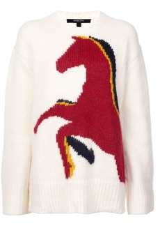 Derek Lam Horse Intarsia Crewneck Sweater