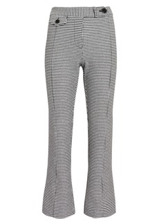 Derek Lam Houndstooth Cropped Flare Trousers