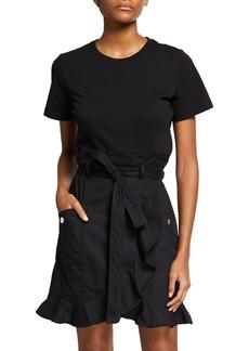 Derek Lam Hudson Mixed Media T-Shirt Dress