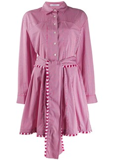 Derek Lam Iona Belted Mini Stripe shirtdress