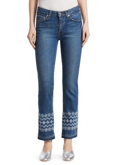 Derek Lam Jane Embroidered Ankle Jeans