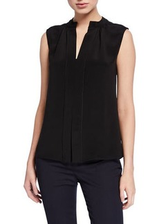 Derek Lam Kara Two-Tone Sleeveless Blouse