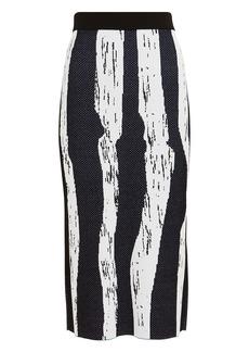 Derek Lam Knit Brush Stroke Jacquard Skirt