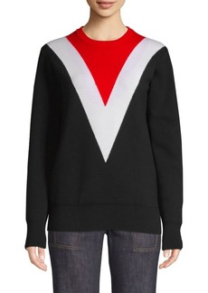 Derek Lam Knit Chevron Colorblock Sweater