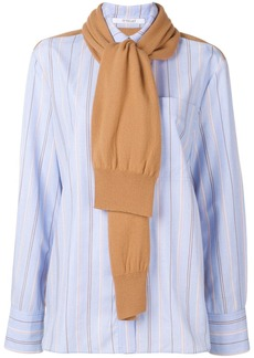 Derek Lam knit panel striped shirt