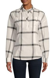 Derek Lam Lace-Up Cotton Shirt